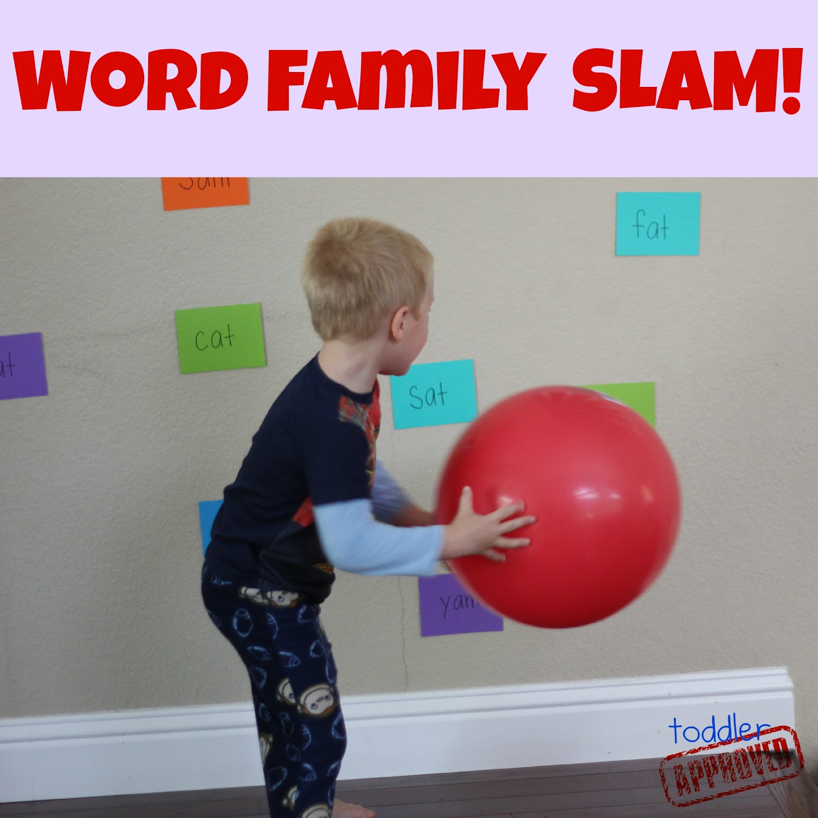 Toddler Approved!: Word Family and Color Slam - Back to School Basics