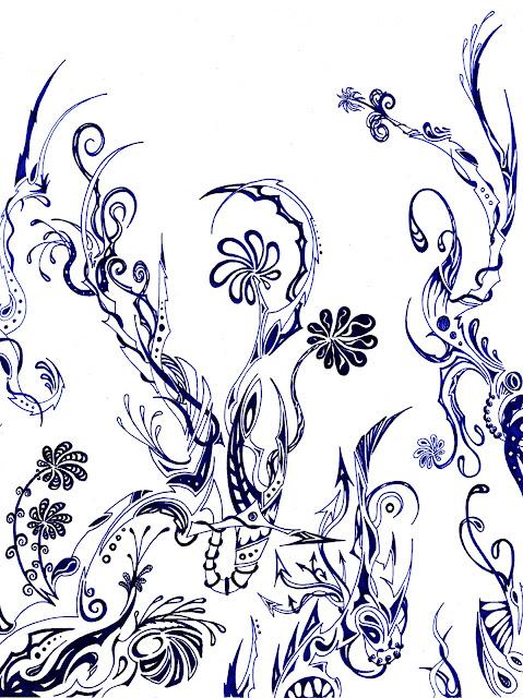 Dessins Fantastiques Fleurs+bleues+tr%C3%A8s+fonc%C3%A9es