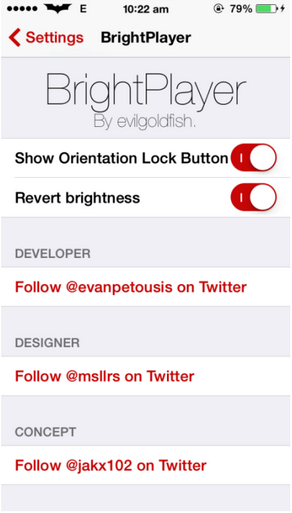 BrightPlayer (First Videos App Tweak) Cydia Tweak