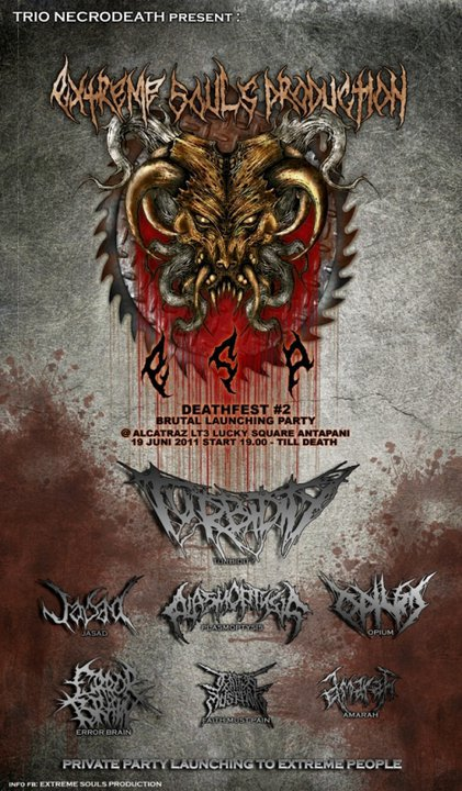 IMAGE FOR Extreme Souls Production - ESP Death Fest 2 (Peremapatan Antapani Bandung,Lucky Square)