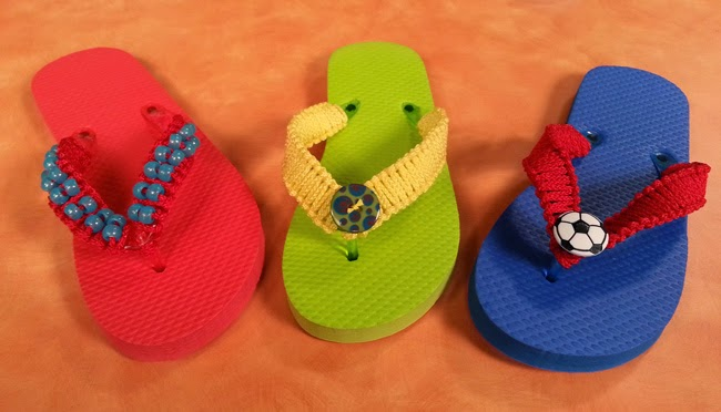 Decorative flip flops. Photo courtesy of Hands On Crafts for Kids.