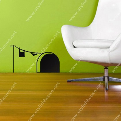 Imaginary mouse home wall stickers drawings for living room walls