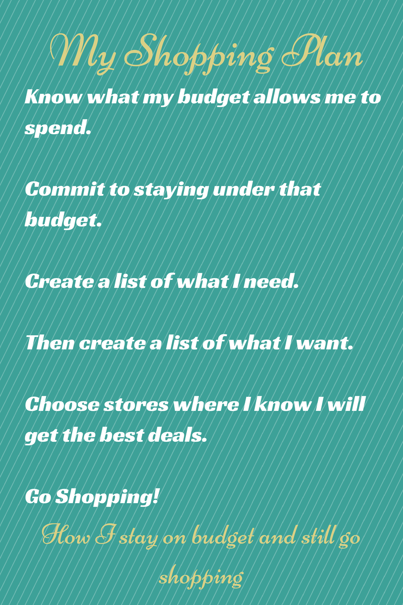 Stay on budget when you shopping with a plan!
