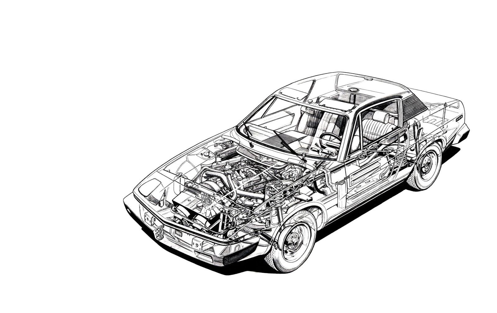 Triumph TR7 cut away image 2