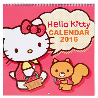 Kalender Hello Kitty 2016 Ucapan Selamat Tahun Baru DP Lucu