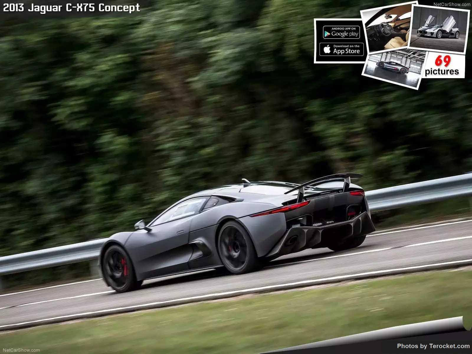 Hình ảnh xe ô tô Jaguar C-X75 Concept 2013 & nội ngoại thất