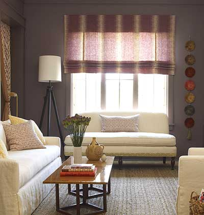 Burlap Window Treatment Ideas