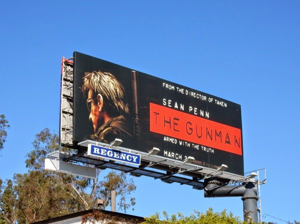 The Gunman movie billboard