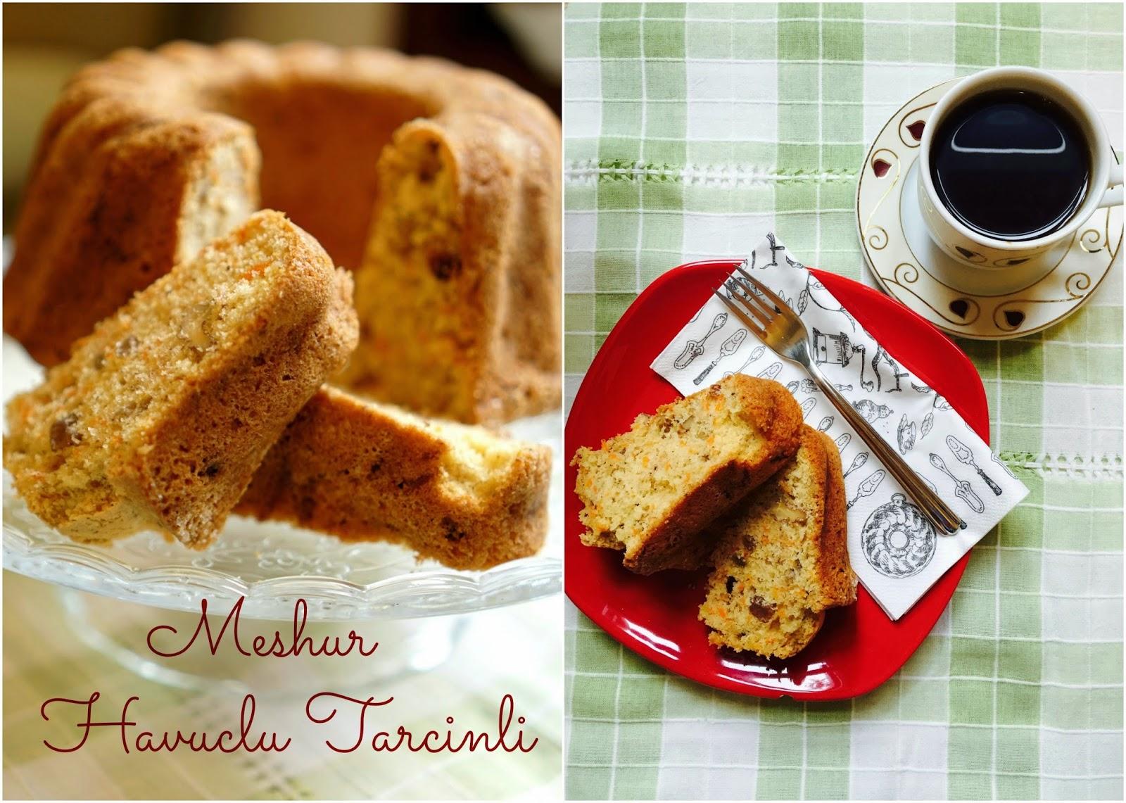 havuclu tarcinli kek - carrot cinnamon cake