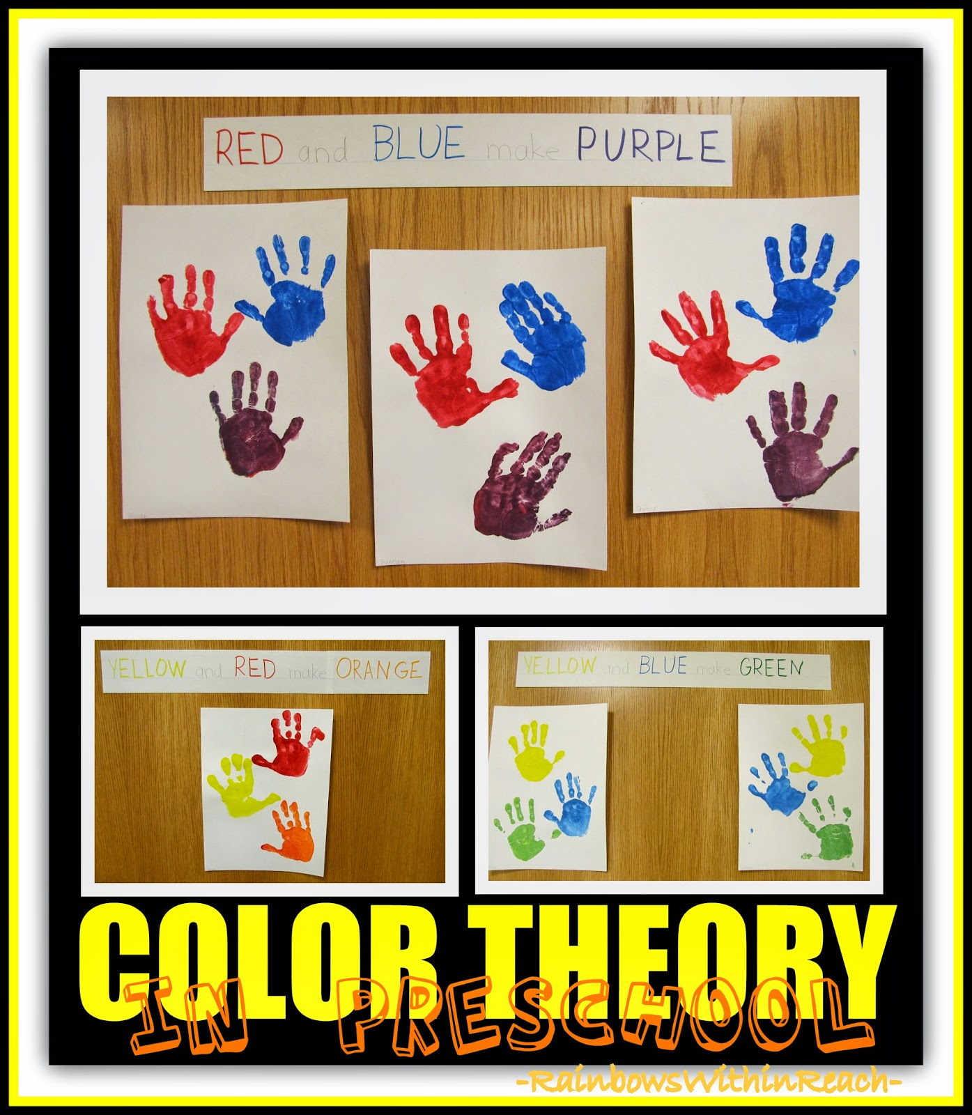 Color Theory explained through Painted Handprints