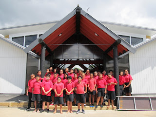 Image of year 7 and year 8 students at the PT school in New Zealand