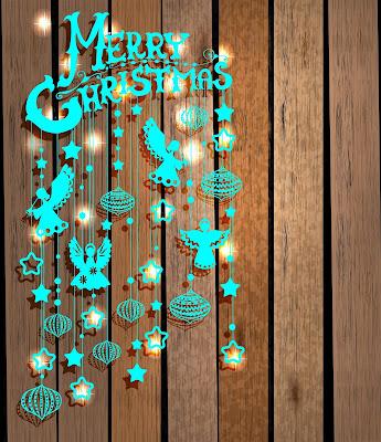Merry Christmas o Feliz Navidad en mensaje 3D azul