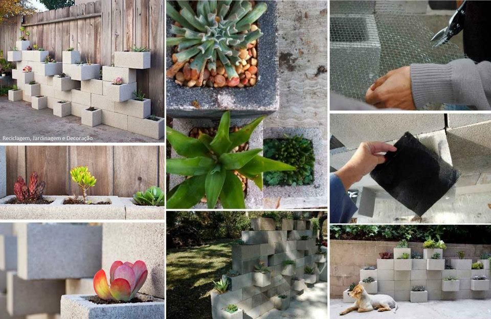 jardim vertical bloco : jardim vertical bloco:FALANDO DE VIDA!!: Jardim vertical, utilizando-se blocos de concreto