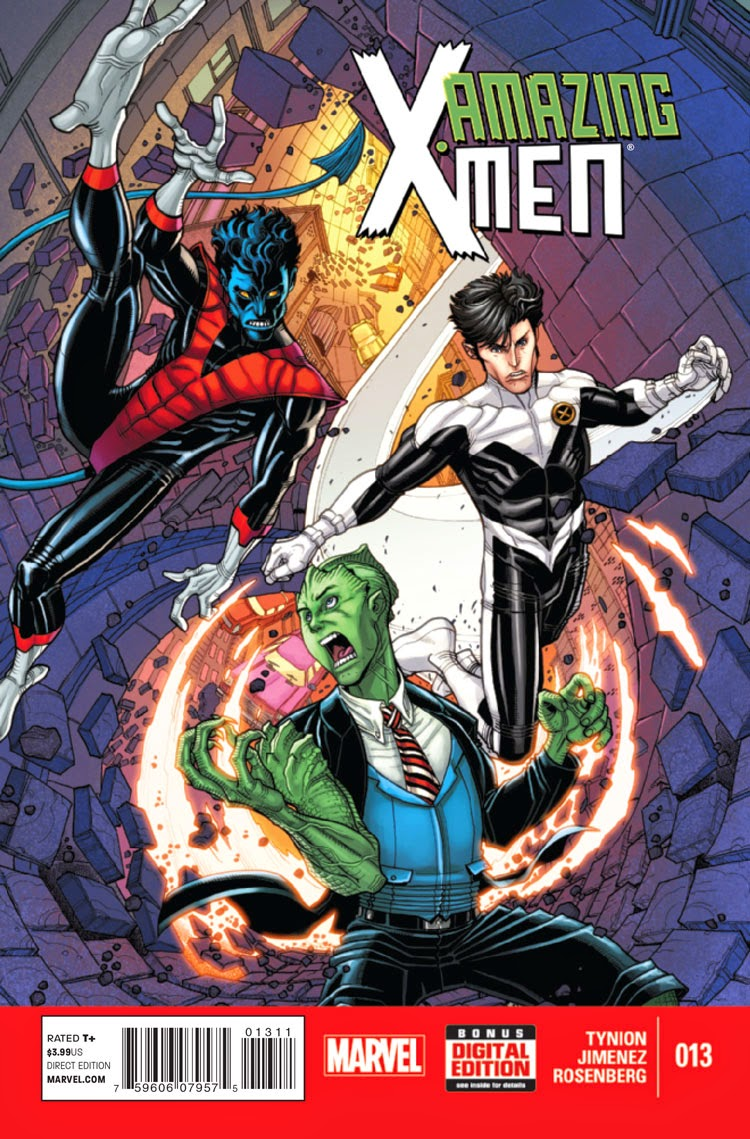 Nightcrawler, Northsra and Anole save the day in Amazing X-Men 13