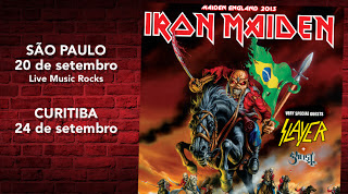 agenda shows Iron Maiden brasil 2013