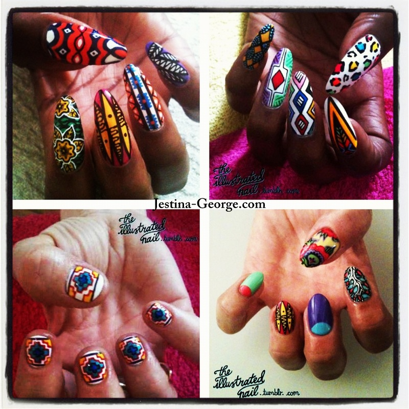 Jgs Cool Online Find African Print Inspired Illustrated Nail Art