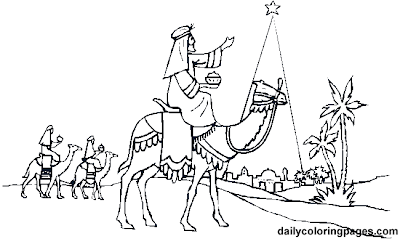 Carta a los reyes magos y p ginas para colorear navidad for Wise men coloring page