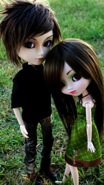 Asian couples cartoon dolls