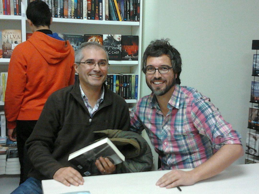 Com o escritor Pedro Chagas Freitas