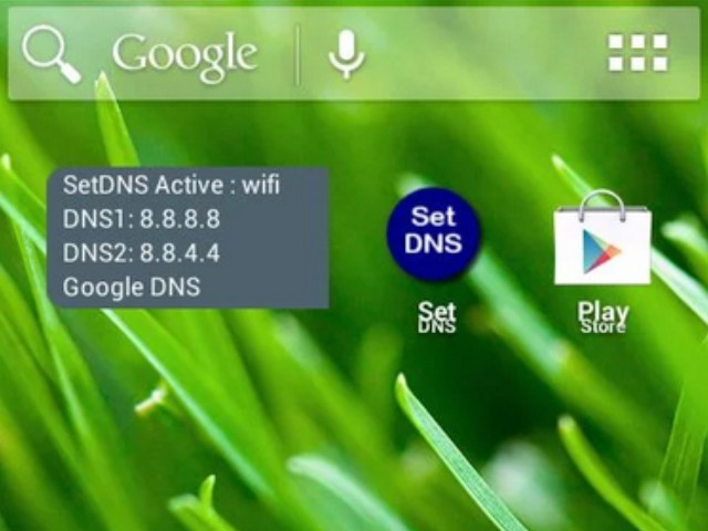 how to change dns settings android