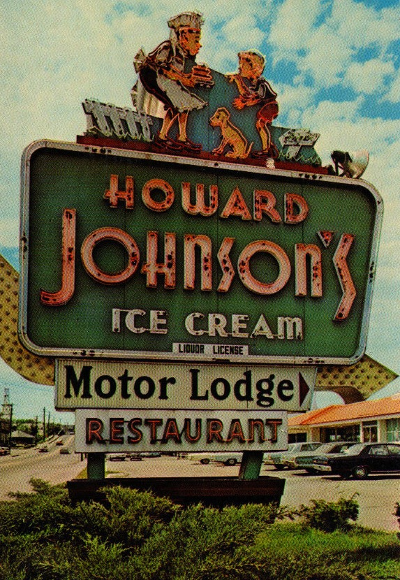 howard johnson sign Vintage