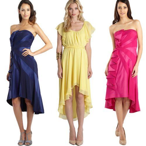 esses vestidos são curtos na frente e longos atrás são usados em