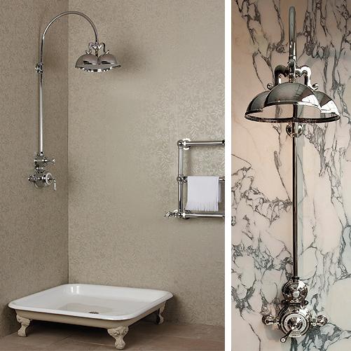 Baño Ducha Diferencia:Baños: Ducha de estilo vintage de Drummond