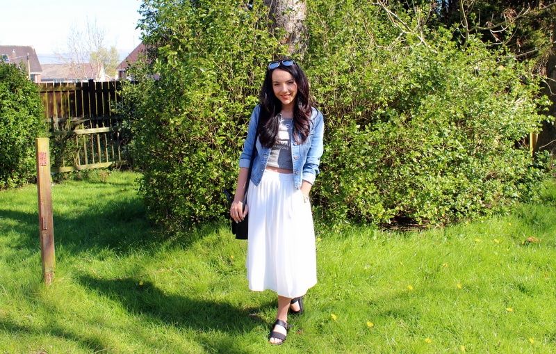 spring outfit of the day skirt