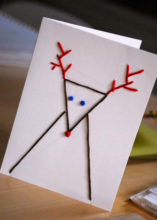 Новогодние открытки своими руками просто