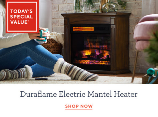 Duraflame Infrared Quartz Electric Mantel Fireplace with 3D Flame Effect