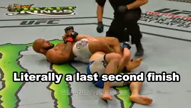UFC 186 Demetrious Johnson Horiguchi armbar
