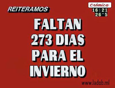 Faltan 273 dias para el invierno