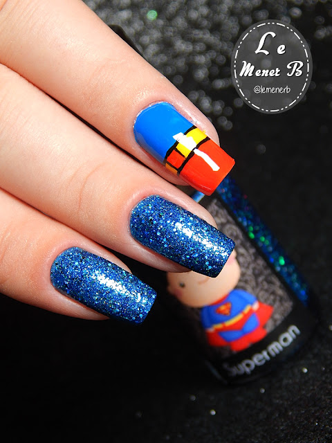 super homem nail art