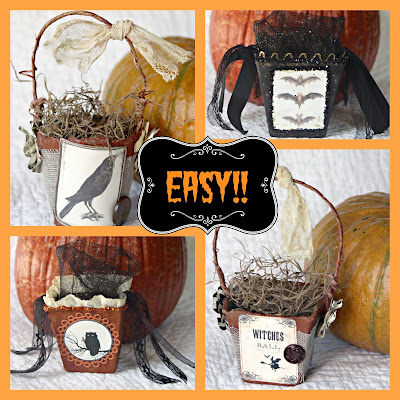 easy Halloween Baskets