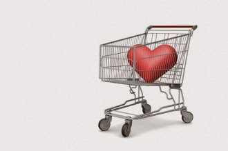 shopping cart heart emotional purchase