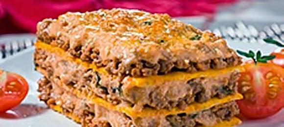 Lasaña De Galletas Y Carne