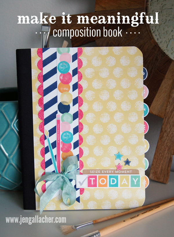 How To Make A Book Cover For A School Project : Make it meaningful altering a composition notebook jen