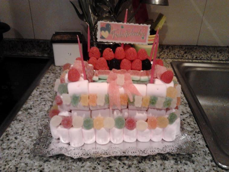 Mi primera tarta de gominolas