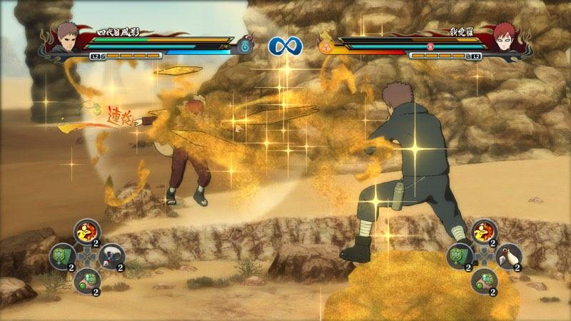 Naruto Storm Revolution Edo Kage Fourth Kazekage vs Gara