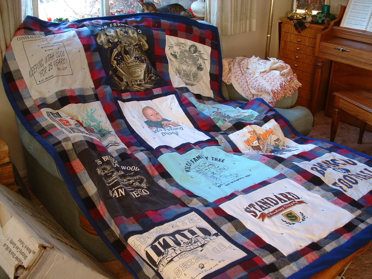 Sentimental T-shirt quilt