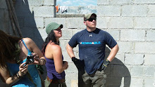 Cite Soleil, Haiti 2011: Host Partner Tammy and one of her own volunteer Brad