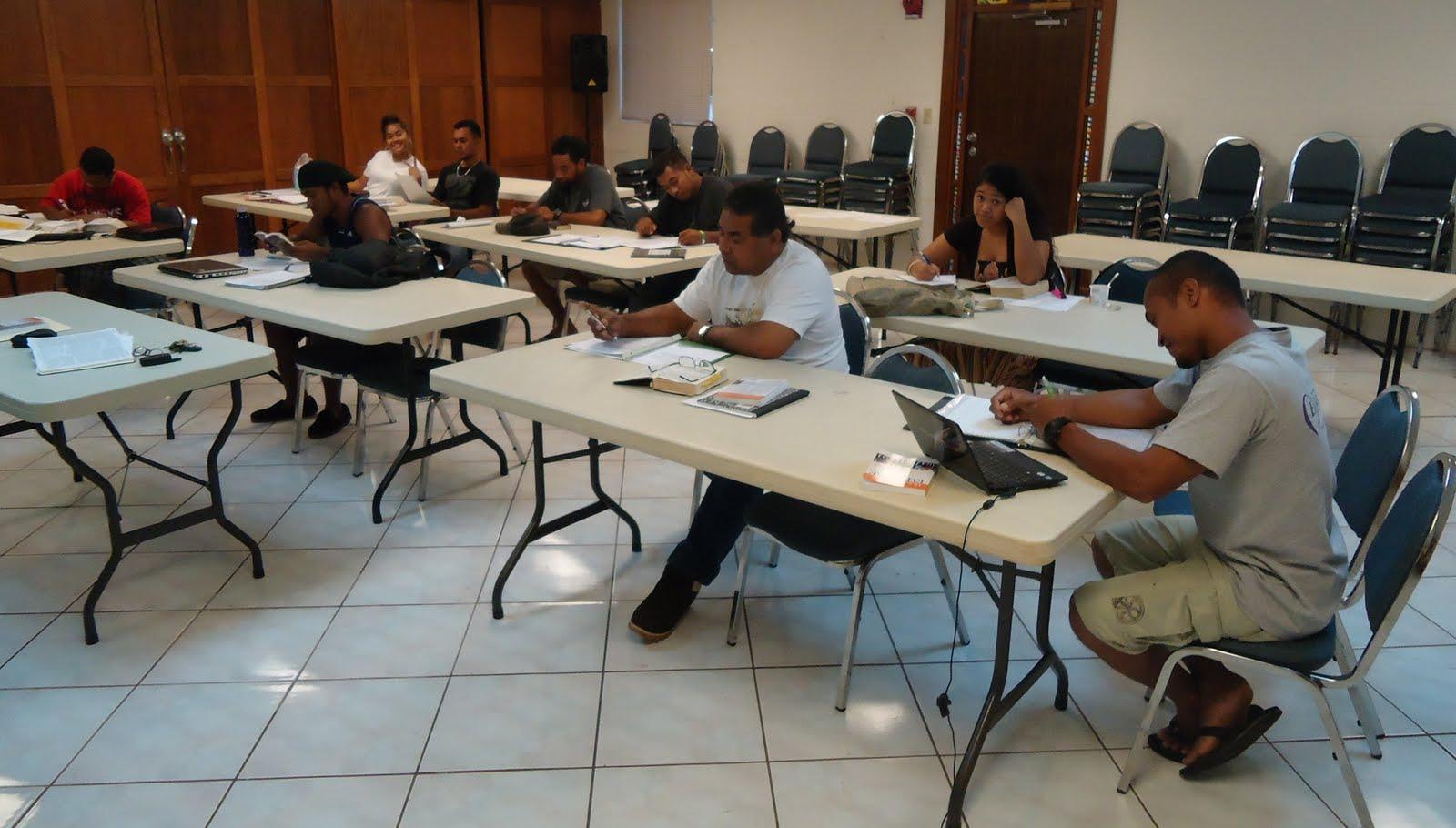 Dave Owen's Guam Blog: Hebrews Exegesis Class at PIU