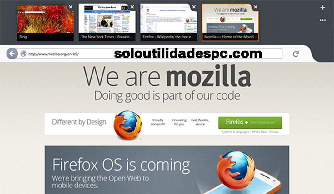 Mozilla Firefox para Windows 8 Español