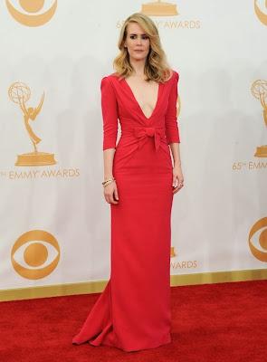 Sarah Paulson, de Carolina Herrera Emmy 2013