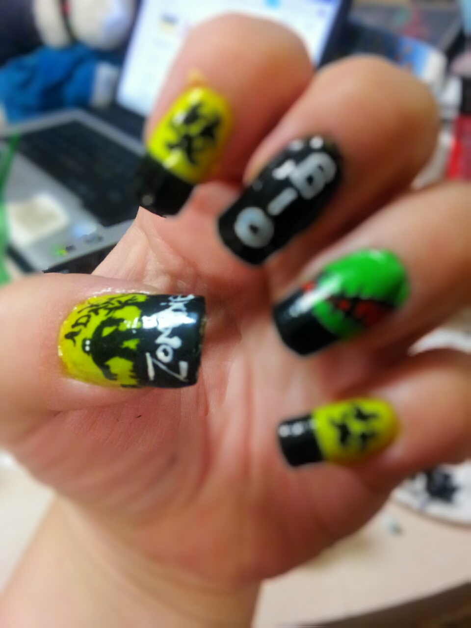 Gses Nail Designs Zombie Nails