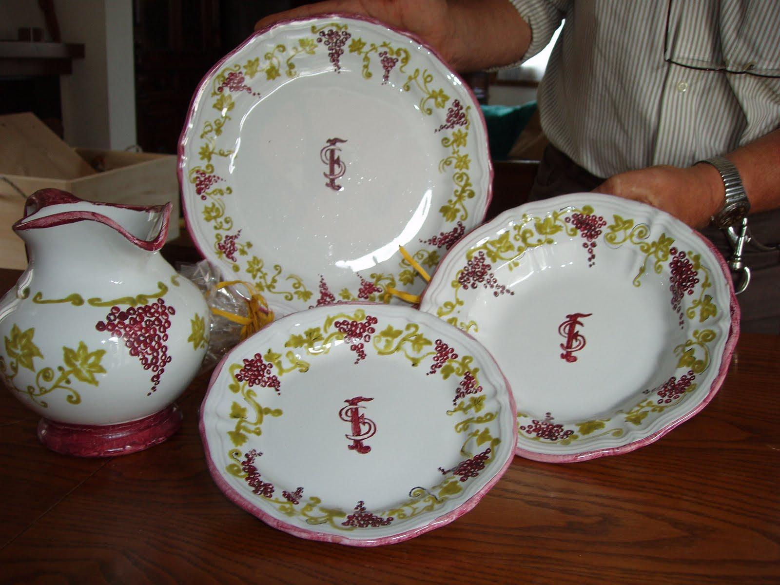 L 39 atelier di giovannella servizio piatti ceramica con for Servizio di piatti