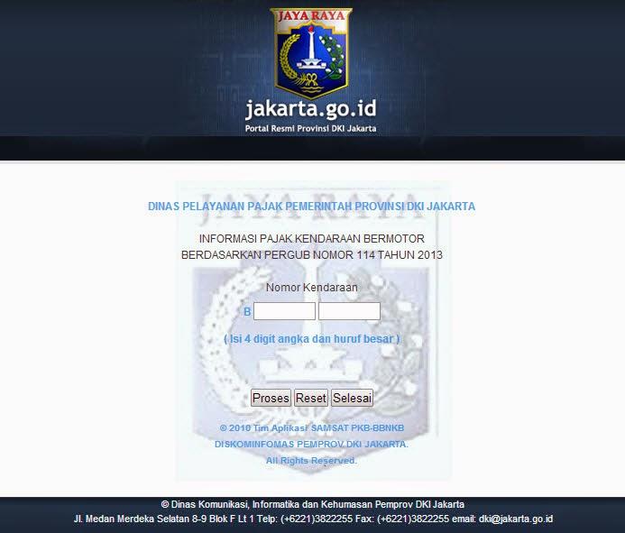 Informasi Pajak Kendaraan Bermotor  Jakarta