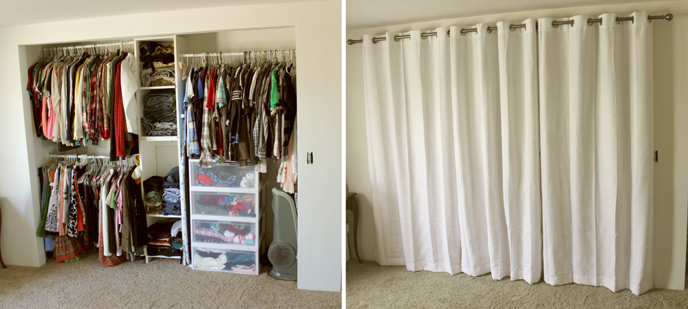 Closet With Curtains - Rooms