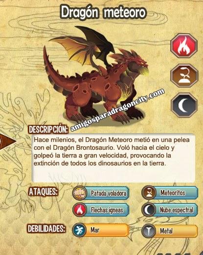 imagen del dragon meteoro y sus caracteristicas