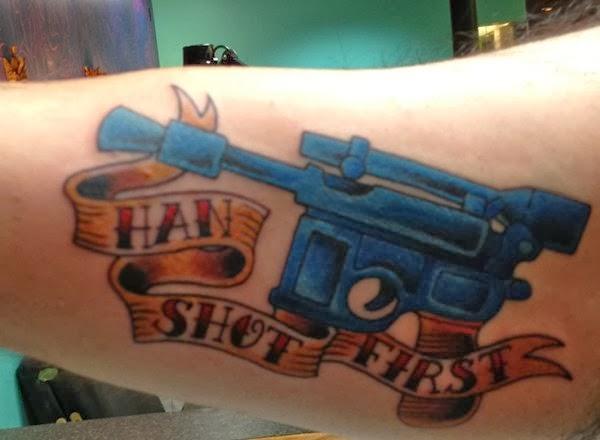 han shot first tattoo